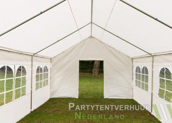 Partytent 4x6 meter voorkant met deur huren - Partytentverhuur Breda