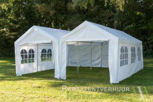 Partytent 6x6 meter voorkant huren - Partytentverhuur Breda