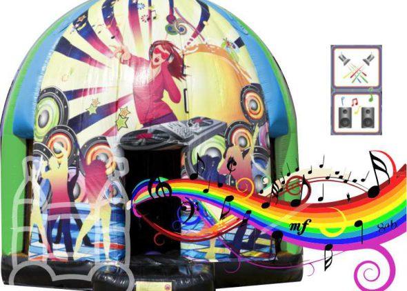 Disco club party springkussen