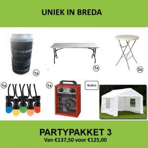 Partypakket 3 huren - Partytentverhuur Breda