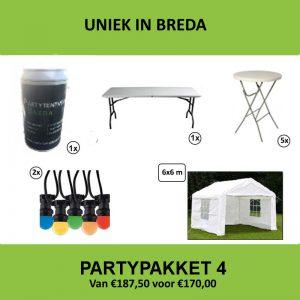 Partypakket 4 huren - Partytentverhuur Breda