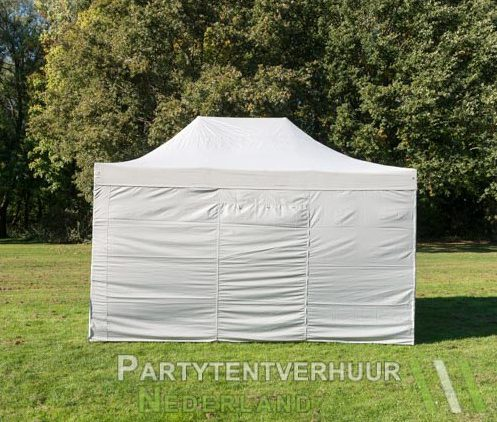 Easy up tent 3x4,5 meter achterkant huren - Partytentverhuur Breda