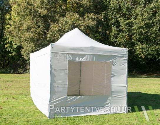 Easy up tent 3x4,5 meter voorkant schuin huren - Partytentverhuur Breda