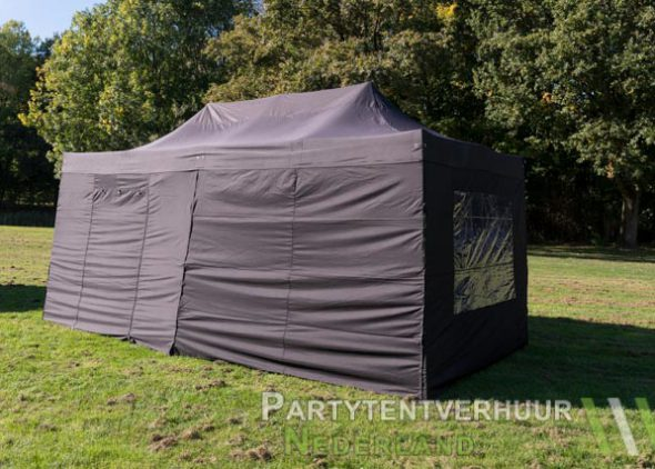 Easy up tent 3x6 meter zijkant huren - Partytentverhuur Breda