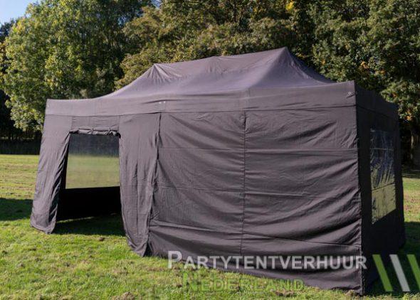Easy up tent 3x6 meter zijkant met deur huren - Partytentverhuur Breda