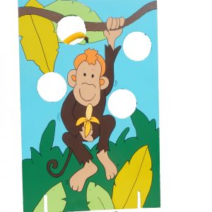 Houten spel - aapjes voeren