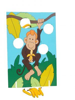 Houten spel - aapjes voeren huren Breda