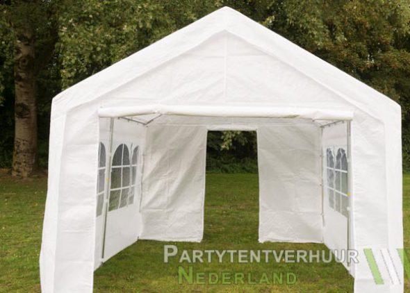 Partytent 3x3 meter voorkant met deur huren - Partytentverhuur Breda